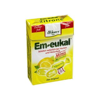 Soldan Em-eukal Lemon Bonbons 40g Pocket-box zuckerfrei